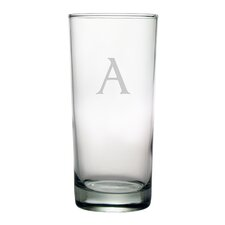 Block Monogrammed Hiball Glass (Set of 4)