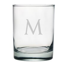 Block Monogrammed Double Rock Glass (Set of 4)