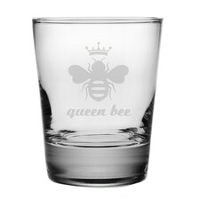 Queen Bee Double Old Fashioned Glass (Set of 4)