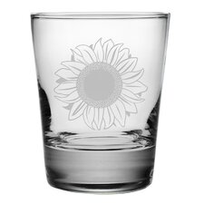 Sunflower Double Old Fashioned Glass (Set of 4)