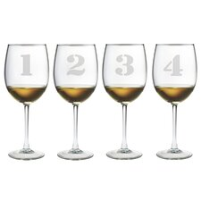 4 Piece Counting All Purpose Wine Glass Set