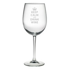 <strong>Susquehanna Glass</strong> Keep Calm and Drink Wine All Purpose Wine Glass (Set of 4)