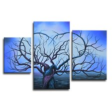 Radiance Macluba 3 Piece Original Painting on Canvas Set (Set of 3)