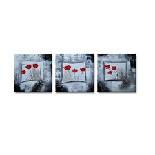 Radiance Cora 3 Piece Original Painting on Canvas Set (Set of 3)
