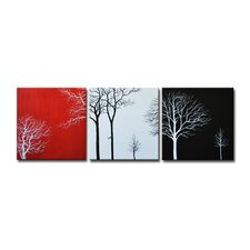 Radiance Mellisa 3 Piece Original Painting on Canvas Set (Set of 3)
