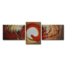 Radiance Jaxine 3 Piece Original Painting on Canvas Set (Set of 3)