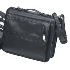 Bellino Compact Leather Laptop Folio Briefcase