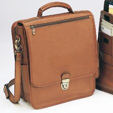 Bellino Reporter Leather Laptop Briefcase