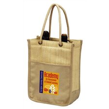 <strong>Preferred Nation</strong> Double Bottle Wine Shopping Tote