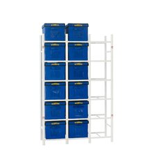 "18 File Box Storage System 68"" H 6 Shelf Shelving Unit"