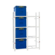 "8 Tote Storage System 68"" H 4 Shelf Shelving Unit"