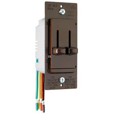 TradeMaster Decorator Single Pole Slide Dimmer and Three Speed Fan Control DeHummer in Brown