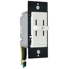 TradeMaster 300W Decorator Dual Slide Two Single Pole Dimmers in White