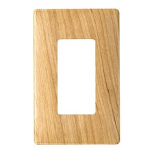 "3.1"" Single Gang Decorator Screwless Wall Plate in Metal maple"