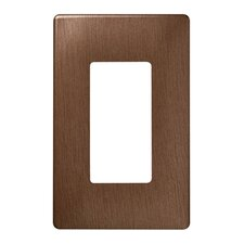 Single Gang Decorator Screwless Wall Plate in Brushed copper