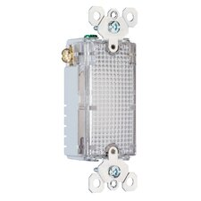 TradeMaster 120V Enhanced Decorator Hallway Light for use with Legrand Louver Wall Plates in