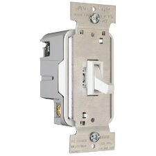 TradeMaster Electronic Single Pole/Three Way Preset Toggle Dimmer in White