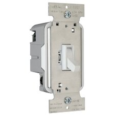 TradeMaster 600W Three Way Toggle Dimmer with Housing in Brown