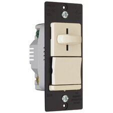 <strong>Legrand</strong> TradeMaster 600W Decorator Slide Dimmer Three Way Preset in Light Almond