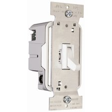 TradeMaster 1000W Three Way Toggle Dimmer in White