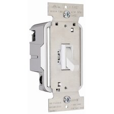 TradeMaster 600W Three Way Toggle Dimmer with Housing in White