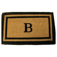 Imperial Double Border Monogram Golden Doormat
