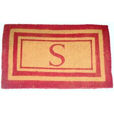 Imperial Triple Border Monogram Golden Doormat