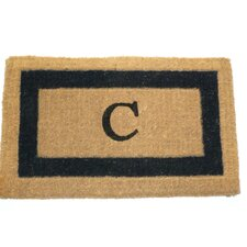 Imperial IBM Single Monogram Golden Doormat