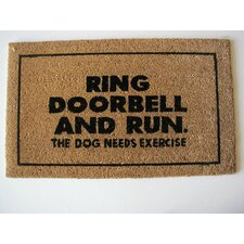 <strong>Geo Crafts, Inc</strong> Ring Door Bell Doormat