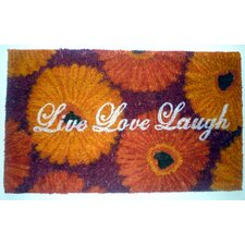 <strong>Geo Crafts, Inc</strong> Live Love Laugh Doormat