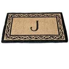 <strong>Geo Crafts, Inc</strong> Creel Ivy Border Monogram Coco Doormat