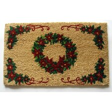 Red Bow Wreath Doormat