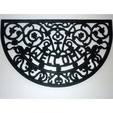 Rubber Welcome Scroll Mat