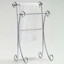 Two Tier Curled Towel Stand