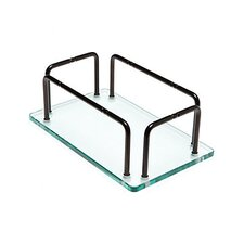 Glass Hand Towel Tray with Rails