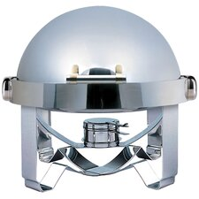 """Save on Additional Items""-Medium Odin Round Roll Top Chafing Dish with Stainless Steel Legs, Heater and Spoon Holder"