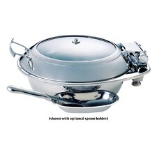 Large Round Chafing Dish with Glass Lid