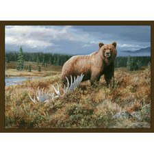 Wildlife Grizzly Novelty Rug