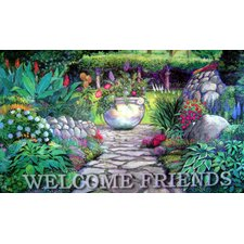 <strong>Custom Printed Rugs</strong> Welcome Garden Gate Doormat