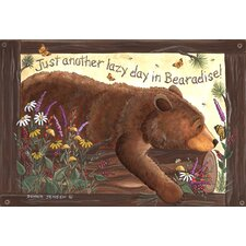 <strong>Custom Printed Rugs</strong> Lazy Bear Doormat