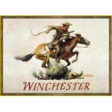 Wildlife Horse and Rider Novelty Rug