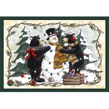 <strong>Custom Printed Rugs</strong> Home Accents Bears and Snowman Novelty Rug