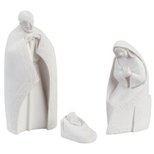 3-tlg. Dekorationsfigurset Peace on Earth Nativities