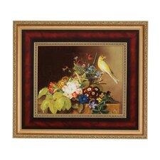 Wandbild Stillleben mit Kanarienvogel - 51,5 x 59 cm