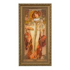 Wandbild Herbst Die Jahreszeiten 1900 - 48 x 25 cm