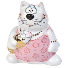 8 cm Salz-/ Pfefferstreuer Helga Hering Alles für die Katz aus Porzellan