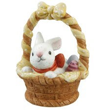 Dekorationsfigur Körbchen mit Hase Frühlingszeit