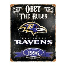 NFL Vintage Metal Sign