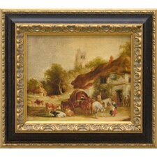 Swan Inn, Giclee on Framed Canvas