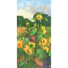 Sunflowers Left on Canvas